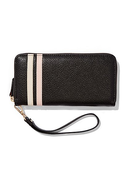 Eva Mendes Collection - Striped Wallet  - New York & Company