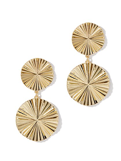 Eva Mendes Collection - Textured-Disc Earrings