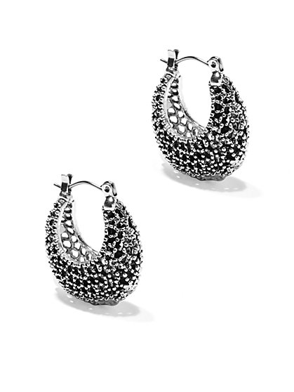 Eva Mendes Collection - Textured Hoop Earring  - New York & Company