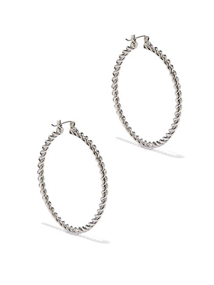 Eva Mendes Collection - Textured Hoop Earrings