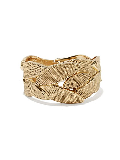 Eva Mendes Collection - Textured Leaf Bracelet - New York & Company
