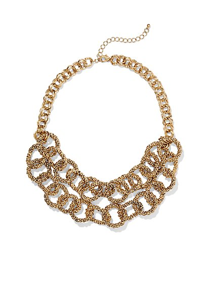 Eva Mendes Collection -Textured Ring Necklace   - New York & Company