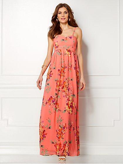 Eva Mendes Collection - Theresa Maxi Dress - Delicate Coral - New York & Company