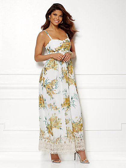 Eva Mendes Collection - Theresa Maxi Dress - Lace Trim - New York & Company