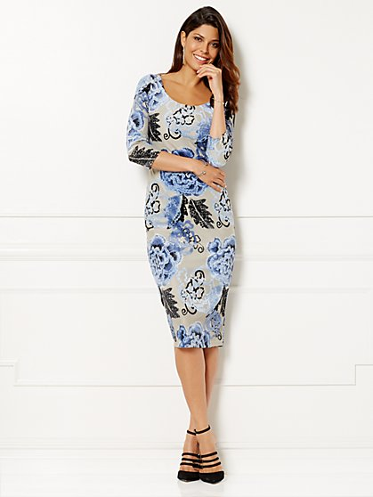 Eva Mendes Collection -Trina Floral Sheath Dress - New York & Company