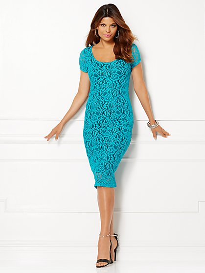 Eva Mendes Collection - Trina Lace Sheath Dress - Petite  - New York & Company