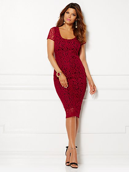 Eva Mendes Collection - Trina Lace Sheath Dress - New York & Company