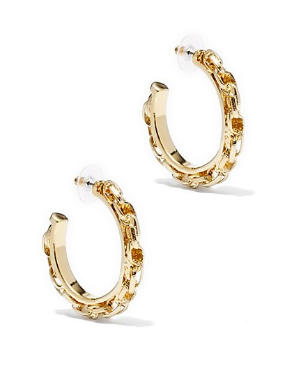 Eva Mendes Collection - Twisted-Chain Hoop Earring - New York & Company
