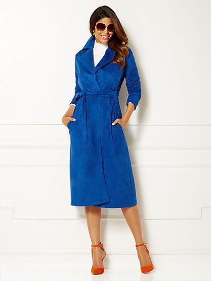 Eva Mendes Collection - Ultra-Suede Trench Coat  - New York & Company