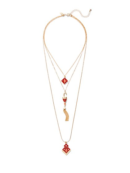 Eva Mendes Collection - Umbrella Necklace  - New York & Company
