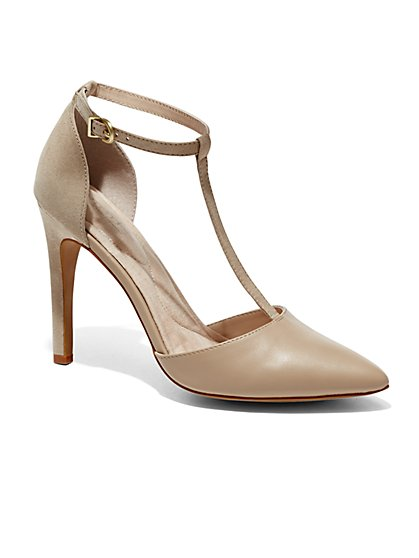 Eva Mendes Collection - Valencia T-Strap Pump  - New York & Company