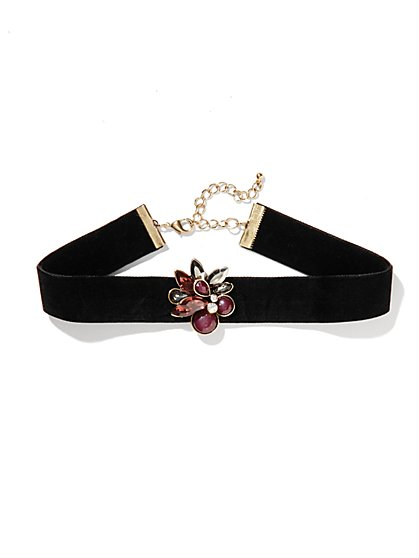 Eva Mendes Collection - Velvet Jeweled Choker - New York & Company