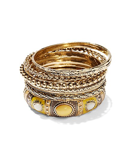 Eva Mendes Collection - Vintage-Style Bangle Set - New York & Company