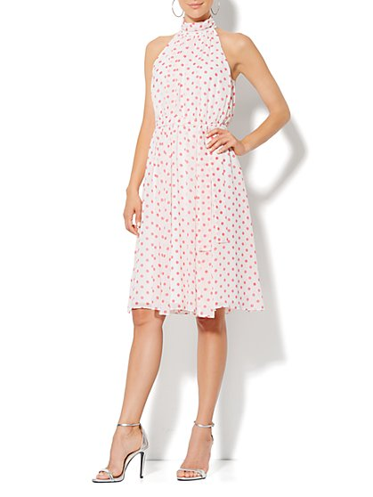 Eva Mendes Collection - Whitney Halter Dress - Dot Print - New York & Company