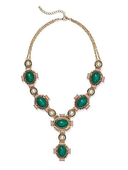Eva Mendes Collection - Y-Shaped Medallion Necklace   - New York & Company