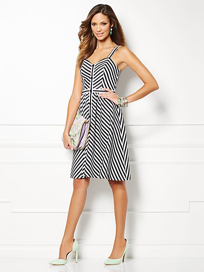 Eva Mendes Collection - Zoe Button-Front Dress  - New York & Company