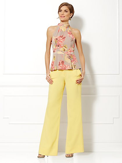 Eva Mendes Collection - Zoe Floral Chiffon Halter Blouse - New York & Company