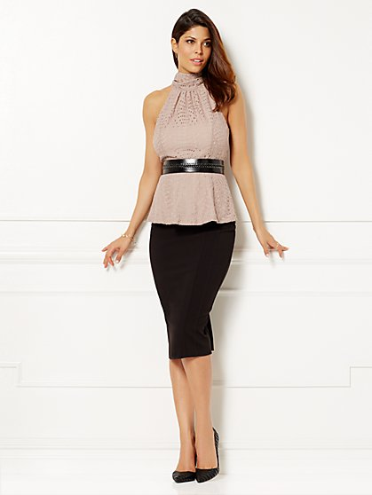 Eva Mendes Collection - Zoe Halter Top - Eyelet   - New York & Company