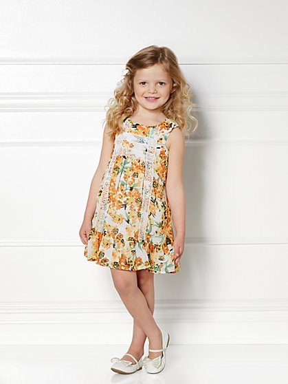 Eva Mendes Mini Collection - Mini Lauren Dress - Floral - 4T - New York & Company
