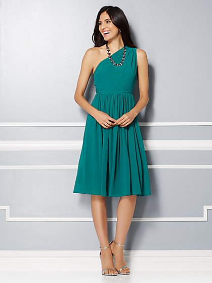 Eva Mendes Party Collection - Della One-Shoulder Chiffon Dress  - New York & Company