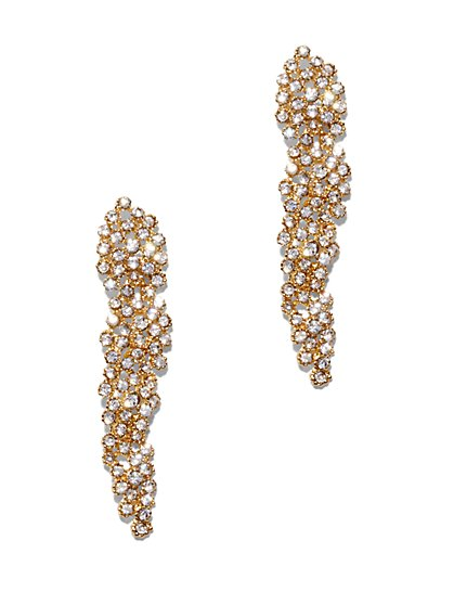 Eva Mendes Party Collection - Gold Sparkling Earring - New York & Company