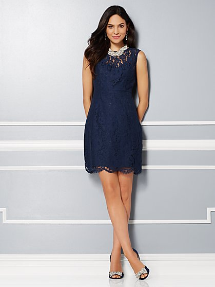Eva Mendes Party Collection - Jackie Bow-Back Lace Dress - New York & Company