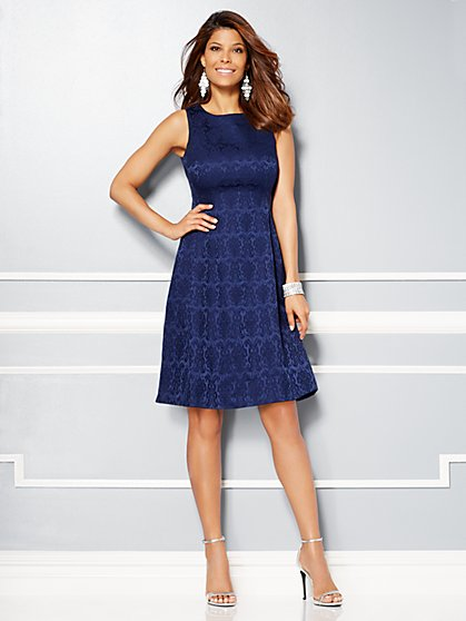 Eva Mendes Party Collection - Maria Jacquard Dress  - New York & Company
