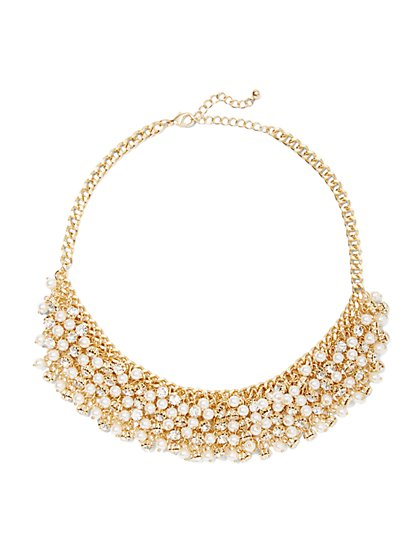 Eva Mendes Party Collection - Pearl Bib Statement Necklace  - New York & Company