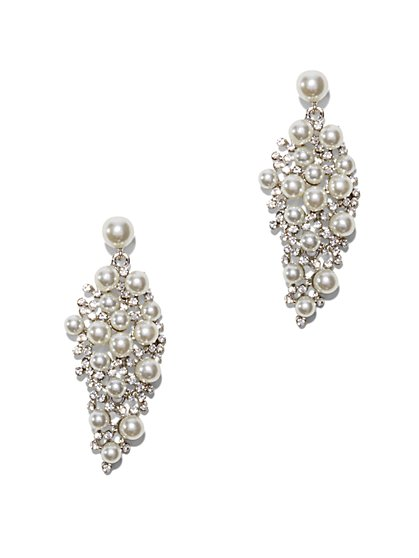 Eva Mendes  Party Collection - Pearl Cluster Drop Earring - New York & Company