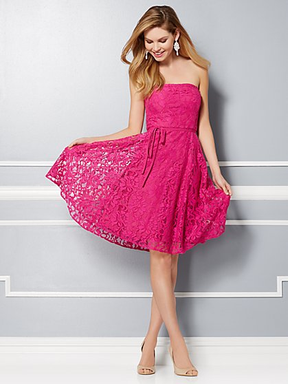 Eva Mendes Party Collection - Sadie Strapless Bow-Back Dress - New York & Company