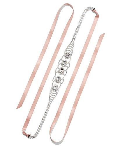 Eva Mendes Party Collection - Shimmering Satin Ribbon Sash  - New York & Company