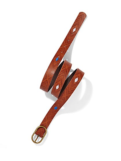 Exotic Faux-Leather Belt  - New York & Company