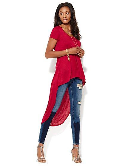 Extreme Hi-Lo Knit Tee - New York & Company
