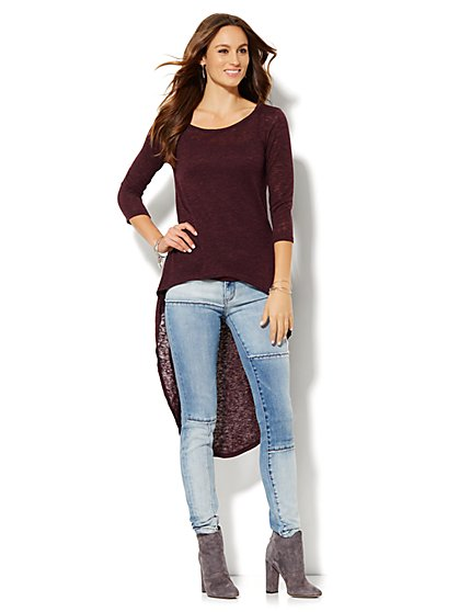 Extreme Hi-Lo Pullover - Solid  - New York & Company