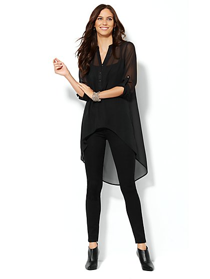 Extreme Hi-Lo Tunic - Black - New York & Company