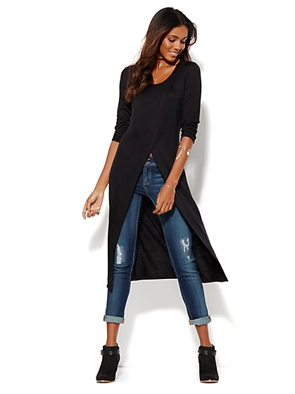 Extreme Hi-Lo Wrap Top - Solid  - New York & Company