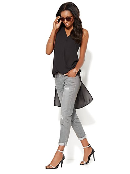 Extreme Hi-Lo Wrap Tunic - New York & Company