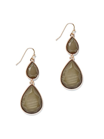 Faceted Double-Teardrop Earring  - New York & Company