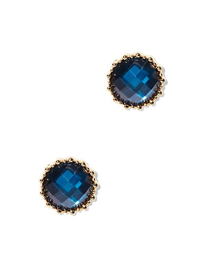 Faceted Faux-Stone Post Earring  - New York & Company