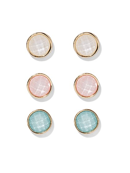 Faceted Round Earring Set  - New York & Company