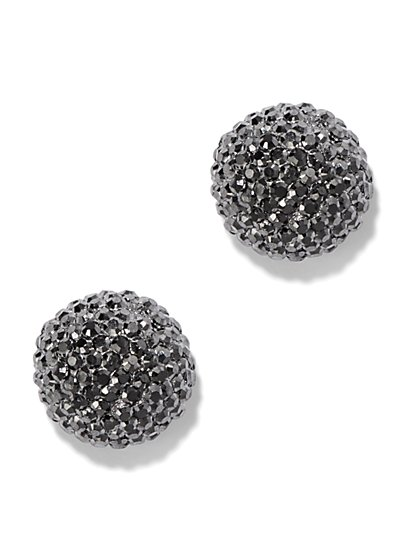Faceted Round Earrings  - New York & Company