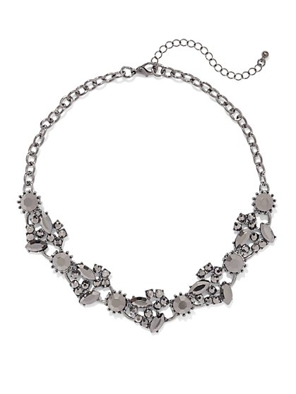 Faceted Stone Collar Necklace  - New York & Company