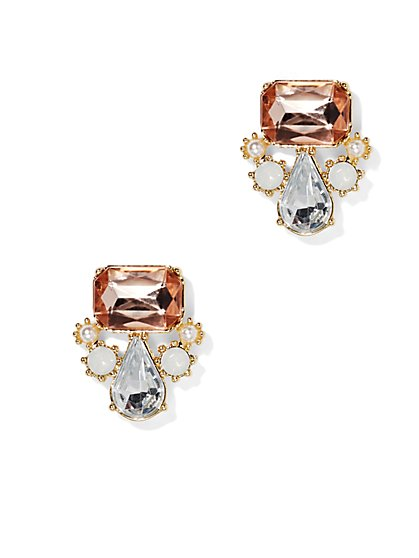 Faceted Stone Earring  - New York & Company