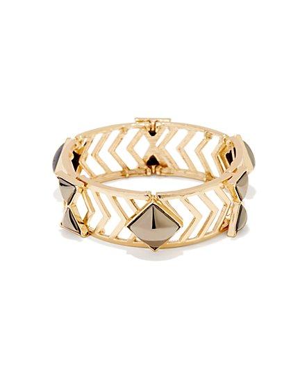 Faceted Stones & Arrows Bracelet