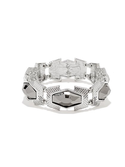 Faceted Stones Stretch Bracelet - New York & Company