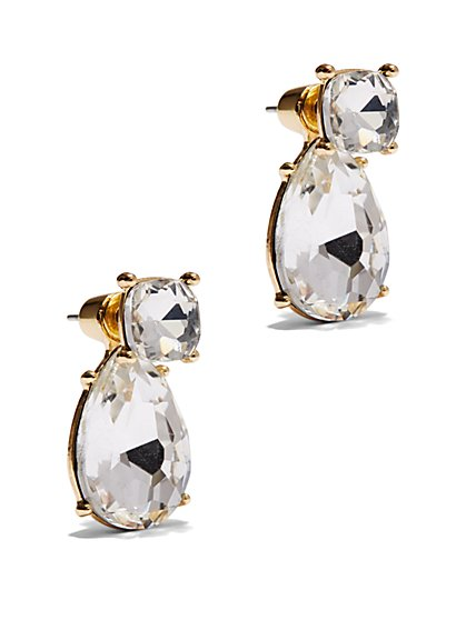 Faceted Teardrop Post Earring - New York & Company