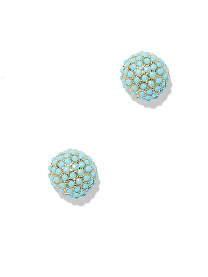 Faceted Turquoise Earring  - New York & Company