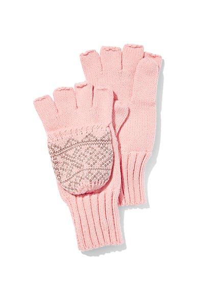 Fair Isle Flip-Top Glove  - New York & Company
