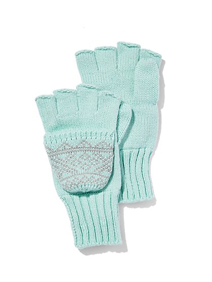 Fair Isle Flip-Top Glove  - New York & Company