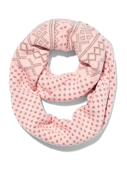Fair Isle Infinity Scarf  - New York & Company